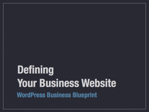 Defining Your Business Website