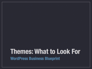 Themes: What to Look For