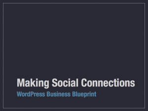 Making Social Connections