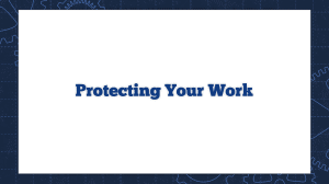 Protecting Your Work