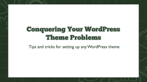 WordPress Theme Setup Webinar