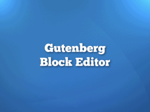 WordPress Gutenberg Block Editor